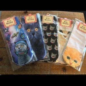 5 Pairs of Fun Cat Socks
